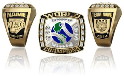 Picture of World Champion Ring or Pendant w/ World and Crossed Bats