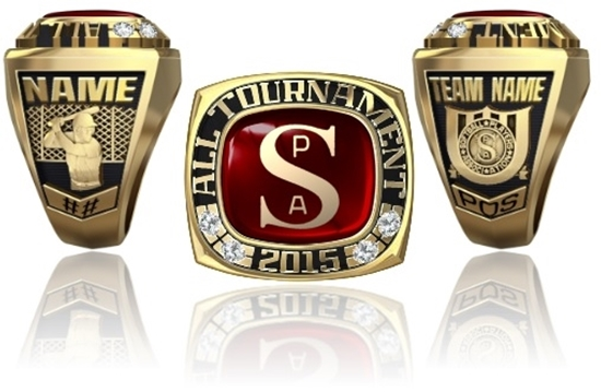 Picture of Men's All Tournament Ring/Pendant w/SPA Encrusted