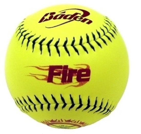 """Picture of Baden """"Fire"""" ( 2SB550YS) Softballs"""