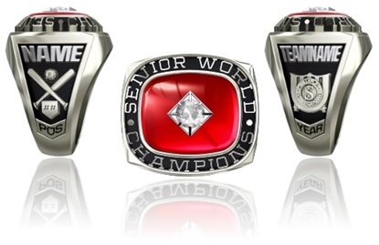 Picture of Women's Senior World Champion Ring or Pendant w/25pt Cubic Zirconia Tubeset