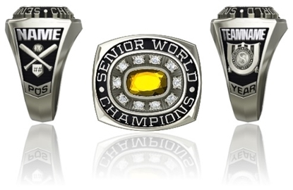 Picture of Women's Senior World Champion Ring or Pendant w/Circled Cubic Zirconias