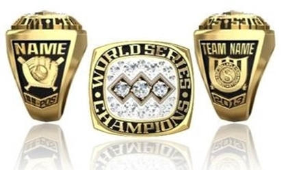 Picture of World Series Champion Ring/Pendant w/Triple Cubic Zirconia Crest